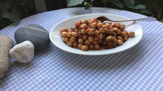 Kichererbsen-Salat.