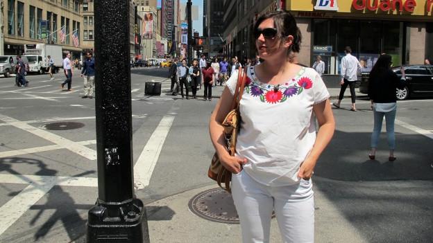 Daniela Fischer in den Strassen von New York.