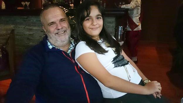 Walter Hutterli mit seiner Tochter
