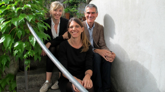 Anita Richner (links) mit Olivier Pagan und Susanne Ullrich.