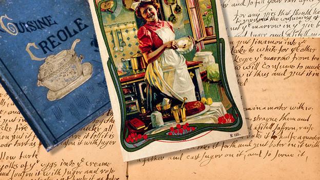 Alte Kochbücher (Collage)