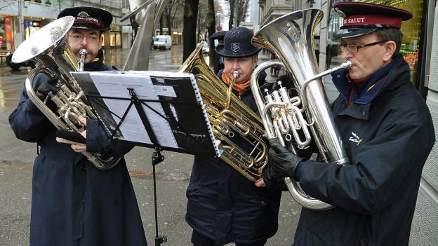 Musiker der Heilsarmee.