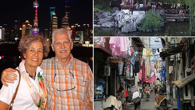 Susanne und Max Oertle in Shanghai.