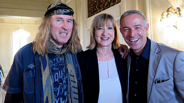 Porträt von Chris von Rohr, Brigitte Witschi und Dani Fohrler.