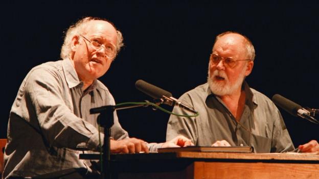 Franz Hohler und Hanns Dieter Hüsch an den Oltner Kabaretttagen 1997