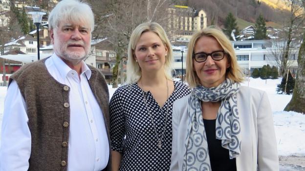 Sonja Hasler (rechts) mit Susanne Siegenthaler und Geny Hess.