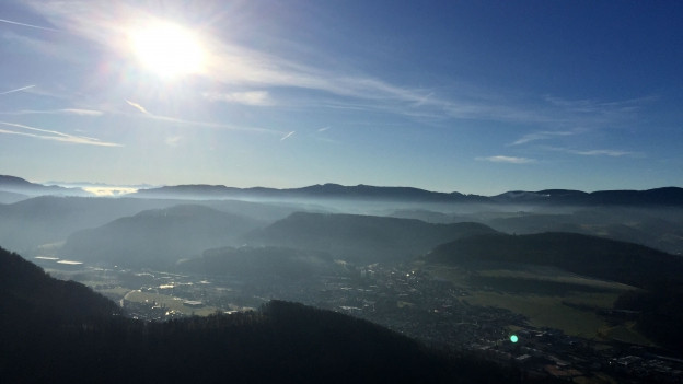 Aussicht vom Aussichtsturm «Alti Stell».