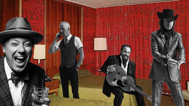 Bandfoto mit den vier Mitgliedern von The Mavericks.