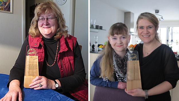 Esther Schönmann (l.) und Tanja Reusser wurden am 1. Februar 2015 zu «Heldinnen des Alltags» erkürt.