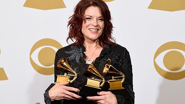 Rosanne Cash mit drei Grammys.