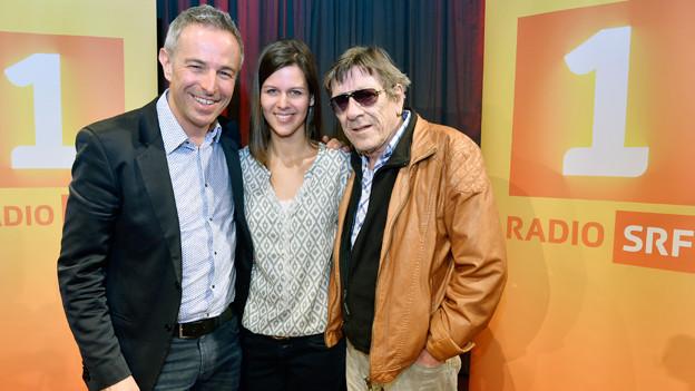 Dani Fohrler mit Polo Hofer und Melanie Oesch.
