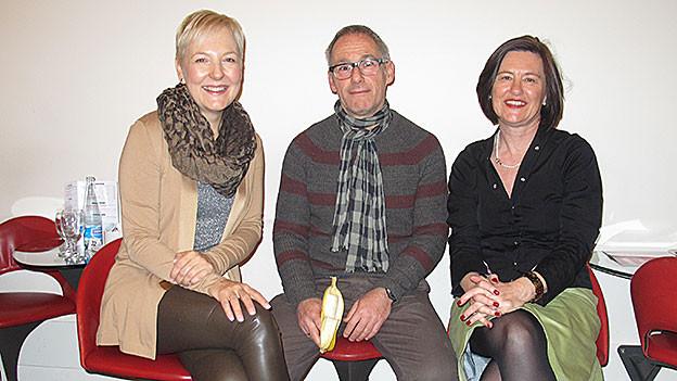 «Persönlich»-Gäste posieren mit Gastgeberin Katharina Kilchenmann.