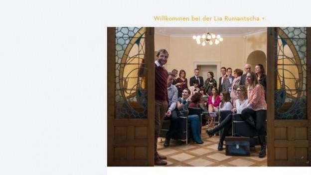 Homepage der Lia Rumantscha.