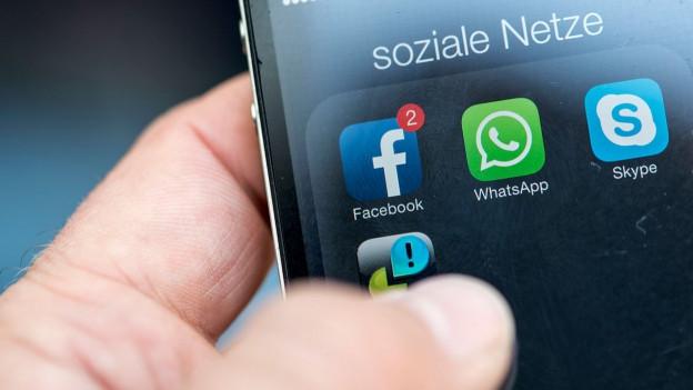 Soziale Medien auf dem Smartphone.