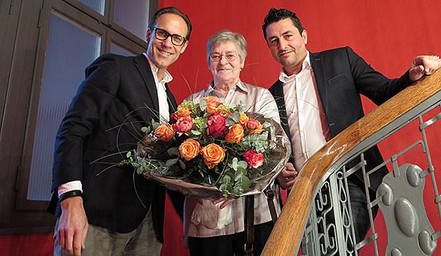 «Persönlich»-Gastgeber Christian Zeugin (links) mit seinen Gästen Rosi Gadient und Nicolás Castillo.