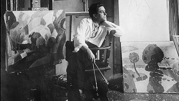Francis Picabia in seinem Atelier.
