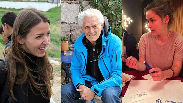 Vanja Crnojevic, Florenz Schaffner und Lea Stirnimann: Porträts von drei Schweizer Flüchtlingshelfern.