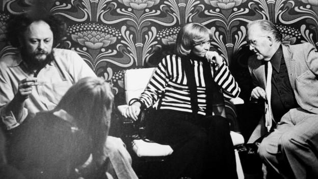 «Persönlich»-Runde mit Niklaus Meienberg, Rosmarie Pfluger und Raymond Broger.