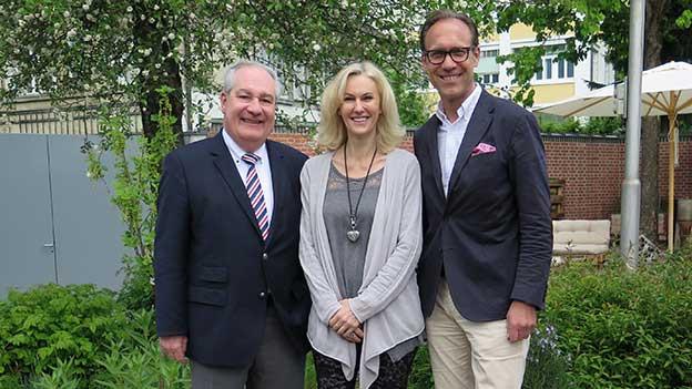 Christian Zeugin (rechts) mit Monika Arbenz und Boris Banga.