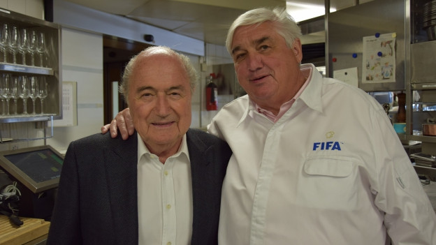Jacky Donatz mit Sepp Blatter.