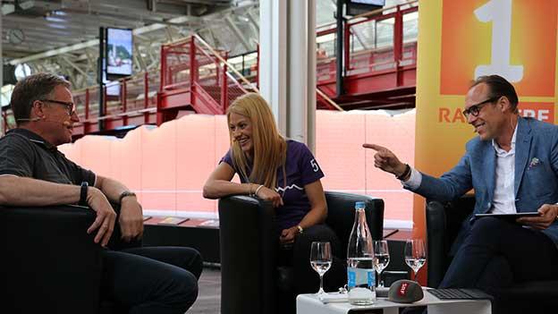«Persönlich»-Gastgeber Christian Zeugin (rechts) mit Christa Rigozzi und SBB-CEO Andreas Meyer.