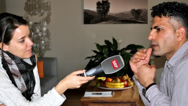 Patricia Banzer im Gespräch mit Nareman Agale.