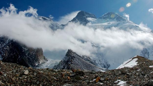 Der Blick auf den majestätischen Berg Broad Peak.