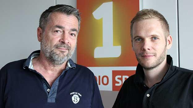 Stefan Gubser (links) mit Moderator Stefan Siegenthaler.