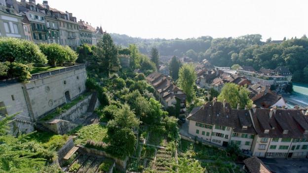 Blick von der Münsterplattform aufs Mattequartier Bern (Bild: Keystone)