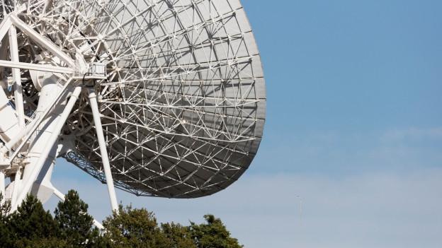 Satellitenschüssel.