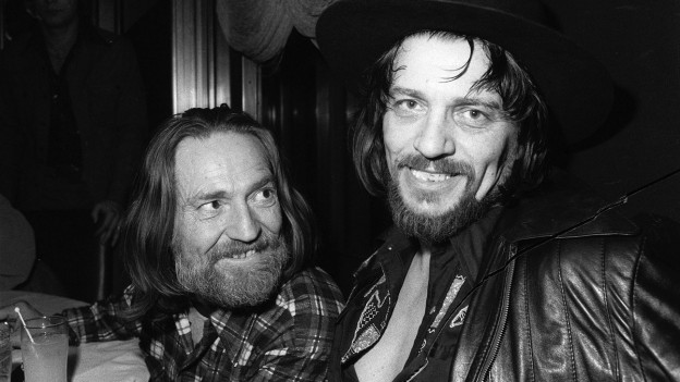 V.l.n.r. Willie Nelson und Waylon Jennings im Januar 1978.