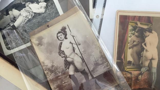 Auswahl von pornografischer Fotografie aus dem 19. Jahrhundert