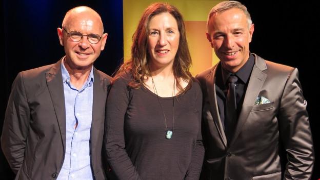 Porträt von Dani Fohrler, Hannes Schmid (links) und Betty Legler.