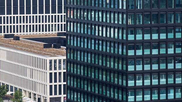 Moderne Hochhäuser.