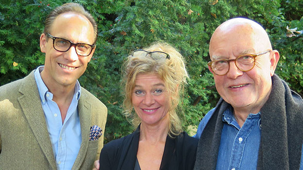 «Persönlich»-Gastgeber Christian Zeugin mit Christoph Schwegler und Hanna Scheuring.