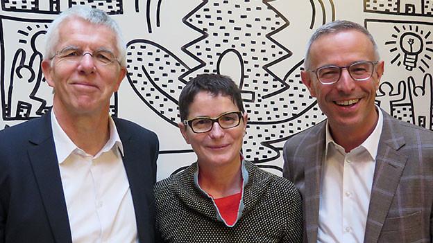 «Persönlich»-Gastgeber Dani Fohrler mit Emerith Bächler und Thomas Straubhaar.