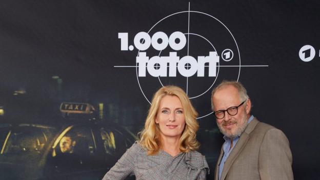 Die Tatort Schauspieler Maria Furtwängler und Axel Milberg.