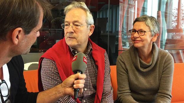 Urs und Annamarie Bannwart im Gespräch mit Thomy Scherrer.