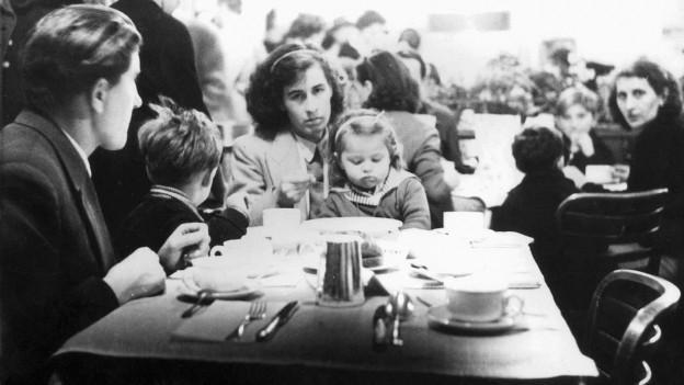 Ungarische Flüchtlingsfamilie.