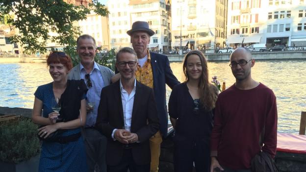 Das PET-Kernteam (v.l.n.r.) Uta Köbernick, Daniel Ludwig, Randulf Lindt, Thomas C. Breuer, Lisa Catena und Simon Chen