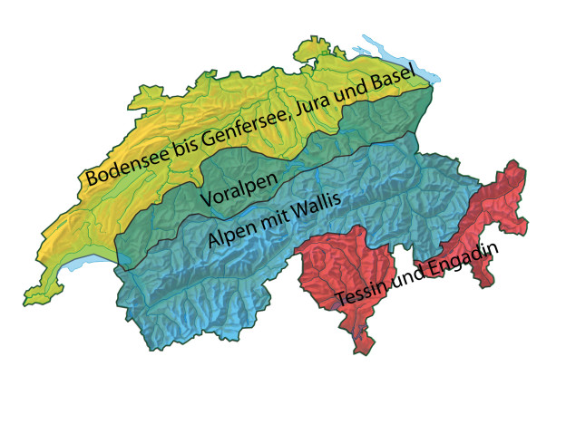 Eine Schweizer Karte