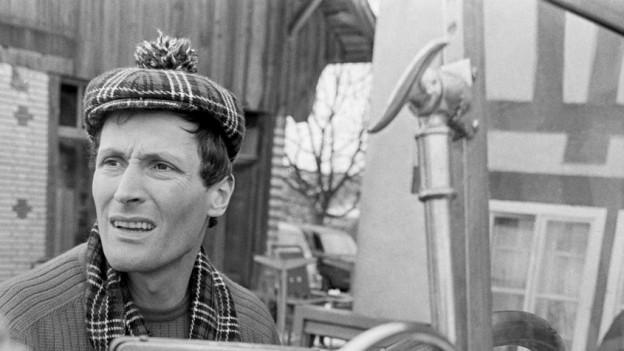 Peter Arens während Dreharbeiten, 1968.