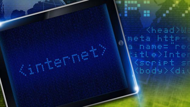 Auf einem Tablet steht «internet».