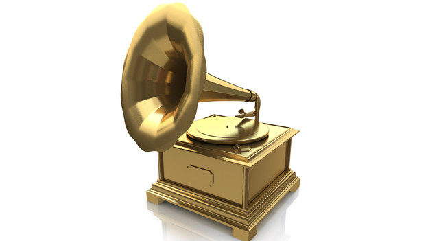 Grammy-Trophäe in goldenem Design