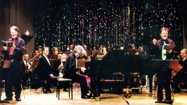 Das BosArt-Trio sind: Hans Hachmann, Wolfgang Schäfer und Reinhard Buhrow