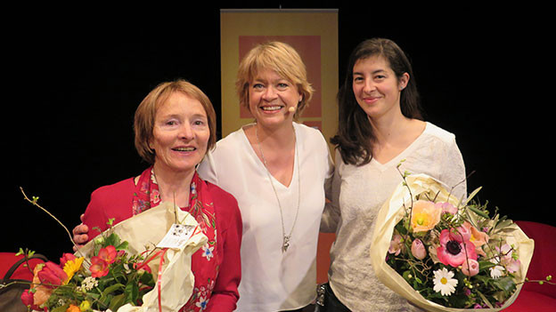 Daniela Lager mit Vreni Häller und Sahra Lobina.