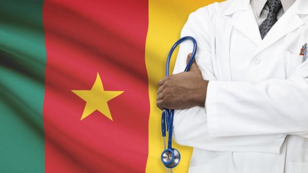 Afrikanische Flagge mit Arzt
