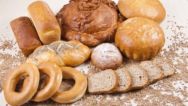 Auswahl an Brot.