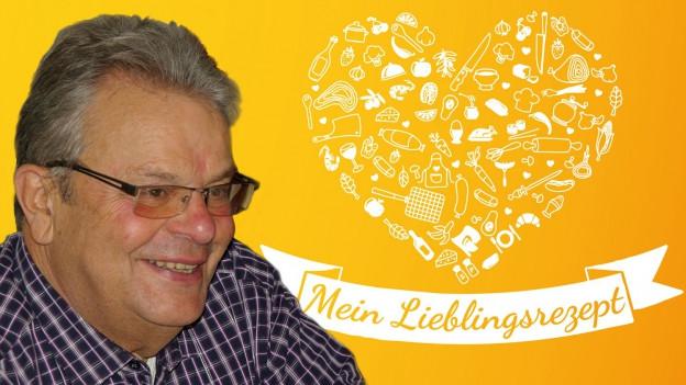 Jean Michel Weiss und das Logo «Mein Lieblingsrezept».