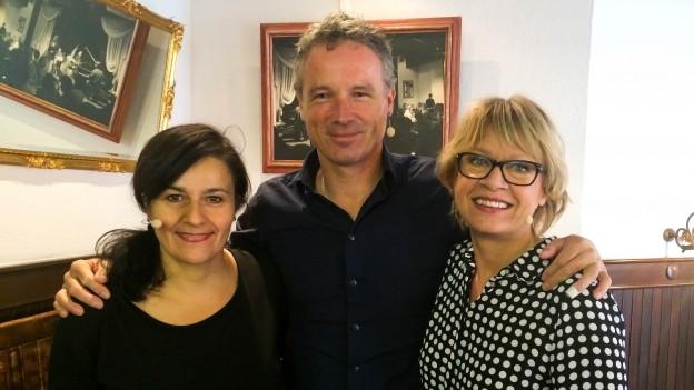 Kabarettistin Anet Corti und Moderator und Musiker Ueli Schmezer sind Gäste von Daniela Lager